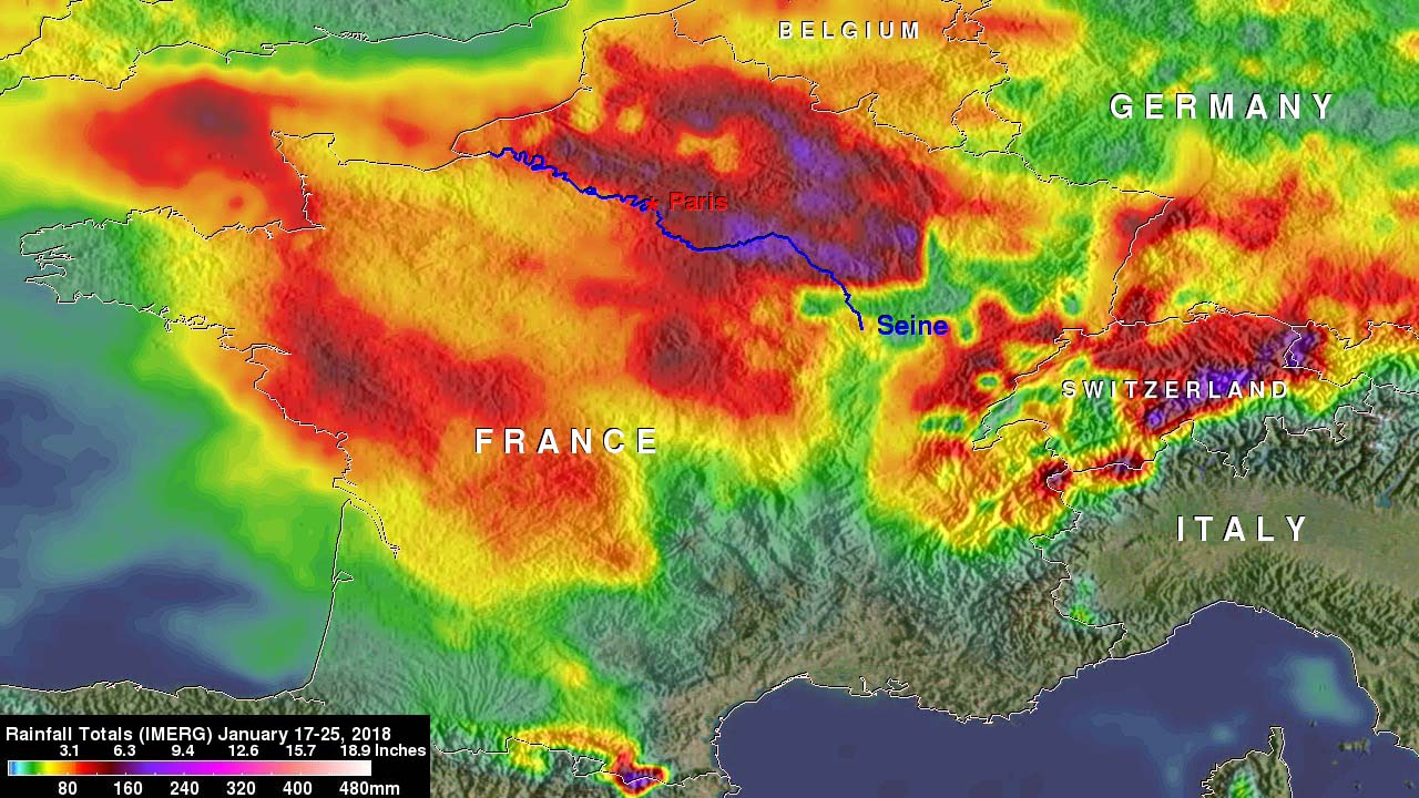 France's Flooding Rains Examined by NASA's IMERG